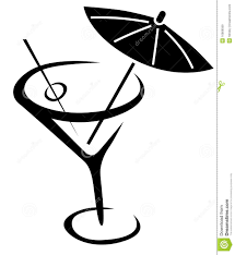tropical cocktail silhouette cocktail clipart black and white pencil and in color cocktail