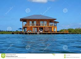 House Over Water Stilt House Over Water Of The Caribbean Sea Stock Photo Image