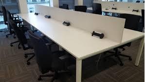Bench Desking White Bench Desks 1100mm Tops Used Office Desks