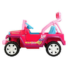 barbie toy cars power wheels cbf64 barbie pink jammin jeep wrangler