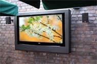 outdoor tv waterproof and weatherproof secure enclosures to