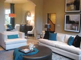 turquoise and brown living room home design ideas