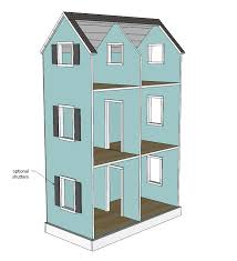 plans to build a house white three story american or 18 dollhouse diy projects