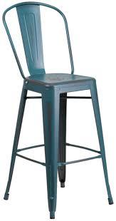 tolix bar stools for sale 30 tolix style distressed antique blue metal high back bar stools