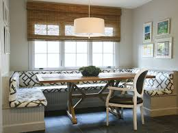 dining room with banquette seating built in banquette contemporary dining room ashley goforth
