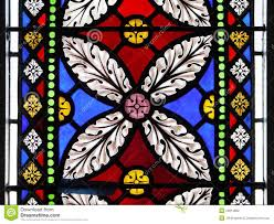 Stained Glass Window Decals Church Stained Glass Window Flower Design Stock Photography