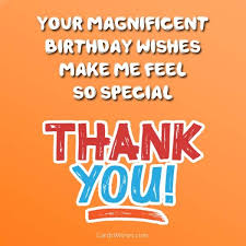 thank you messages for birthday wishes cards wishes