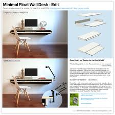 minimal float wall desk quick make over for mass production or