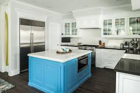 square turquoise kitchen island cottage kitchen