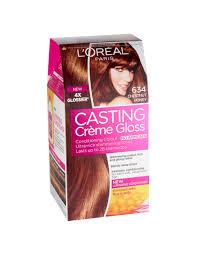 loreal hair color chart ginger casting crème gloss chestnut honey 634 hair dye l oréal paris