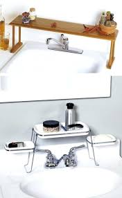 bathroom sink organization ideas bathroom sink shelf above the faucet shelf creates counter
