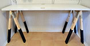 Craft Table Desk How To Diy A Sawhorse Craft Desk For Only 35