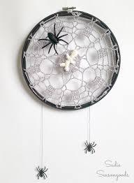 diy vintage doily spider web by sadie seasongoods