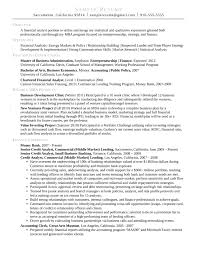 Market Research Resume Samples by Combination Credit Analyst Resume Template