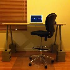Ikea Standing Desk Galant Standing Desk From Ikea Galant And Concrete Blocks Safco Flickr