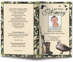 Template For A Funeral Program Camouflage Funeral Program Template Design Template Duck Hunting