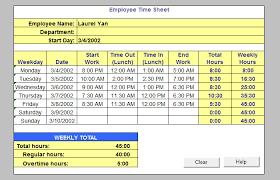 39 timesheet templates free sample example format free timesheet