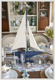 Sailboat Centerpieces Nautical Theme - french farmhouse nautical dining room welcome home summer tour