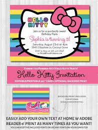 printable hello kitty birthday party ideas hello kitty printable invitation rainbow other sweet and