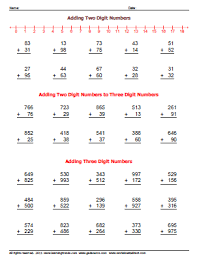 adding two and three digit number worksheets worksheetsdirect com