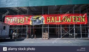 spirit halloween store a spirit halloween pop up store in midtown in new york stock photo