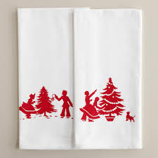 christmas towels upstairs downstairs christmas kitchen towels