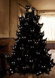 black christmas trees cat christmas tree