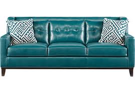 Teal Sofa Set by Reina Green Leather Sofa 888 00 82w X 38d X 32h Find