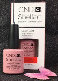 cnd shellac fragrant freesia 91746 gel color coat 15 ml 0 5 fl oz
