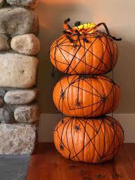 halloween pumpkin painting spider web paintd top