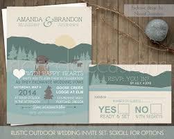 mountain wedding invitations rustic outdoor wedding log