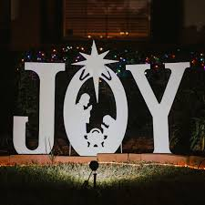 joy nativity yard sign christmas yard art