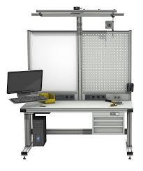 arbeitstisch mit ohne höhenverstellung alváris profile systems