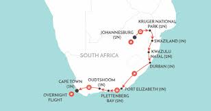 Port Elizabeth South Africa Map by South African Trails South Africa Tour Wendy Wu Tours