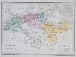 Ou Map Map Of Moghreb Ou Berberie 1867