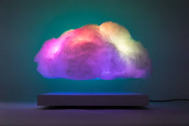 awesome but expensive levitating cloud led lamp geekologie