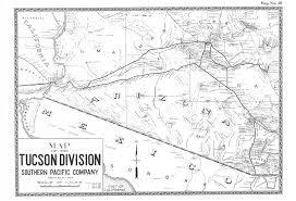 Map Of Tucson Focalplane U003e Southern Pacific Maps