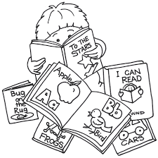 picture of child reading a book free download clip art free