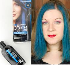 reviews from hair burst garnier color styler intense wash out hair color in blue burst