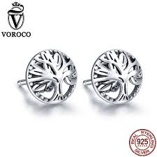 owl stud earrings voroco authentic 925 sterling silver black zircon owl stud