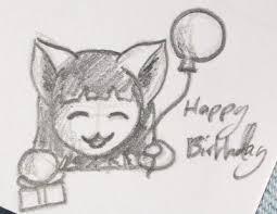 Sketch Birthday Card Birthday Card Sketch By Littleai On Deviantart