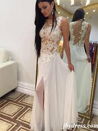 white lace prom dress a line neck white lace wedding dress white lace prom