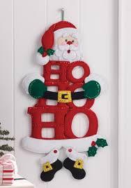 100 seasonal home decorations bucilla seasonal felt bucilla ho ho ho santa wall hanging country navidad tela