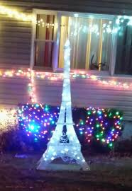 eiffel tower decorations eiffel tower outdoor christmas decoration christmas2017