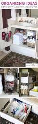 great organizing ideas for your bathroom cabinet organization