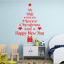 Christmas Wall Pictures by Christmas Original Fabric Christmasree Wall Sticker Fabric By