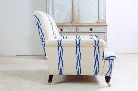 Ikat Armchair Anton U0026 K English Country House Armchair In Ikat Fabric This