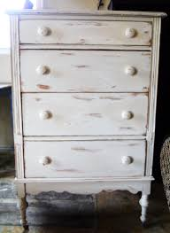 white distressed dresser drop camp