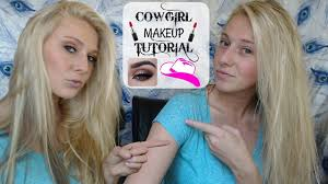 Cowgirl Halloween Makeup Cowgirl Makeup Tutorial Funny Youtube