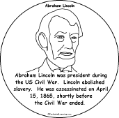 lincoln coloring pages abraham lincoln a printable book enchantedlearning com